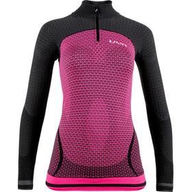 UYN Running Alpha OW Longsleeve ZipUp Shirt Dames, roze/zwart